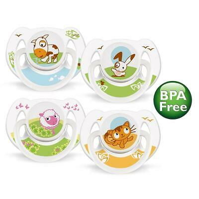 Philips AVENT - BPA Free Classic Pacifiers, 0-6 Months, 2-Pack, Pink/White