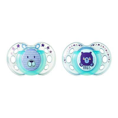 Tommee Tippee Closer to Nature 2-Pack 18-36m Night Time Pacifier - Light