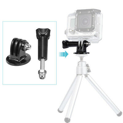 Tripod Mount Adapter + Long Thumb Knob Screw Bolt For GoPro Hero 5 4 3+ 2 Camera