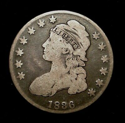 1836 Capped Bust Half Dollar Old U.s. Type Coin