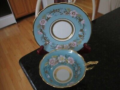 """Royal Stafford """"GARLAND BLUE"""" Cup & Saucer                      EXCELLENT"""