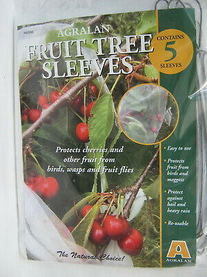 New Agralan Fruit Tree Sleeves Pk5 1m x 30cm Protect Fruit From Birds HA596