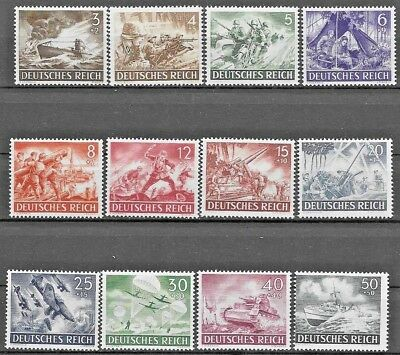 Germany Third Reich Mi# 831-842 MNG Armed Forces and Hero's Day 1943