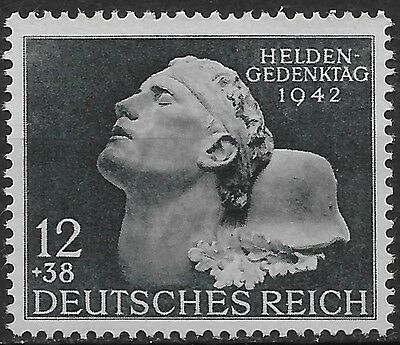 Germany Third Reich Mi # 812 MH Hero's Remembrance Day 1942 *