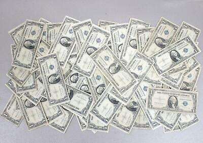1935's $1.00 SILVER CERTIFICATES MIXED LOT OF 56 NOTES WITH 2 **STAR NOTES***