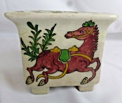 Nice vintage Persian pottery vase #2 (out of 2), ca. 1930s, hand painted