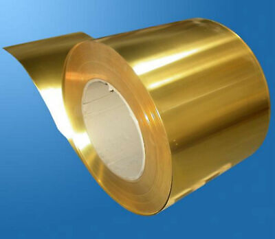 1 Piece Brass Metal Thin Sheet Foil 0.02 x 100 x 1000mm (4 inches x 40 inches)