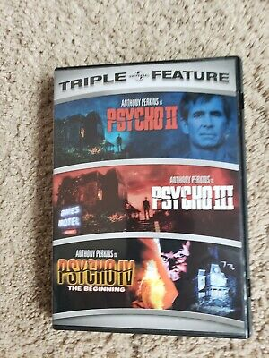 PSYCHO Sequel Triple Feature 2 & 3 and 4 the beginning DVD USR1 Anthony Perkins