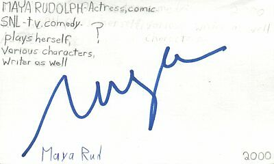 Amy Poehler Actress Comedian Snl Tv Show Autographed Signed Index Card Cards & Papers