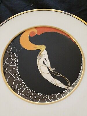 "Erte L' Amour 12.5"" Charger Plate West Germany 1990 Sevenarts"