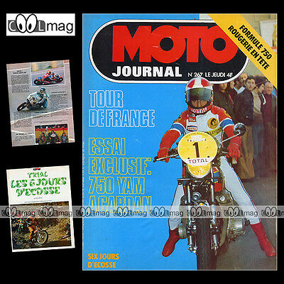 Moto Journal 267 Yamaha Xs 750 Sunbeam S8 Hubert Rigal Tour De France 1976