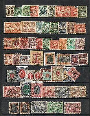 DANZIG - Lot of old stamps