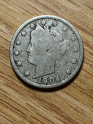 "1904 P Liberty Head ""v"" Nickel  *ag Or Better*  **free Shipping**"