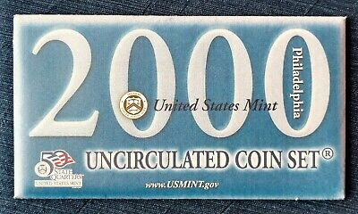 2000 P 10-Coin Uncirculated Set, Sacagawea Dollar, OGP & COA