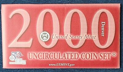 2000 D 10-Coin Uncirculated Set, Sacagawea Dollar, OGP & COA