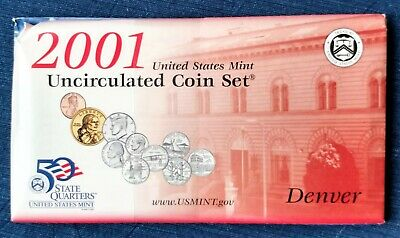 2001 D & P 20-Coin Uncirculated Set, Sacagawea Dollar, OGP & COA
