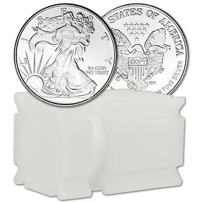 TWENTY (20) 1/2 oz Highland Mint Silver Round Walking Liberty .999 Roll of 20