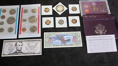 OLD US COIN LOT+73 MINT+89 PROOF SET~ DOLLARS+1937 Buffalo ~~NO RESERVE #173