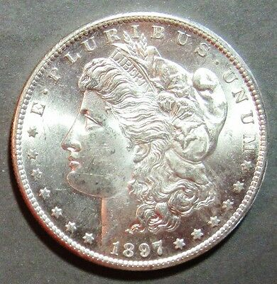 1897-S  Morgan Silver Dollar Attactive  Very Choice Bu!