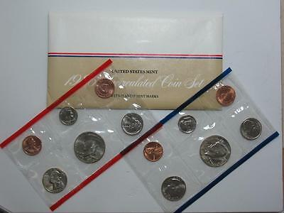 1986 US Mint Set - P&D Uncirculated - Half Quarter Dime Nickel & Cent