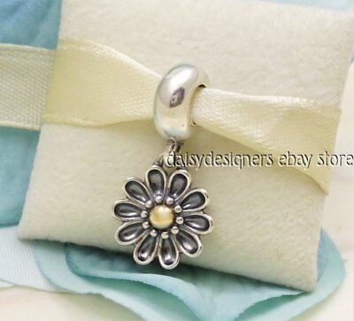 NEW Authentic Pandora Silver 14k Gold OOPSIE DAISY Charm 791210 RETIRED
