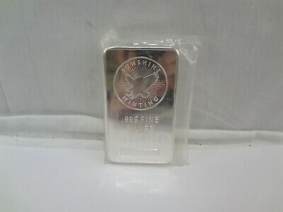 Sunshine Minting SI 10 Troy Ounce Oz. .999 Fine Eagle Silver Bar Bullion