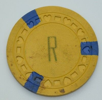Riviera Club Illegal Casino Chip Sunny Isle Florida RectlHrt Mold
