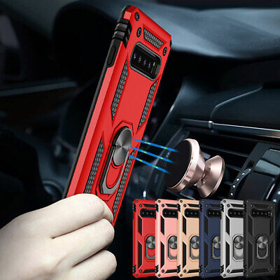 Hybrid Rugged Rotating Ring Stand Hard Case For Samsung Galaxy S10e S10+ Plus