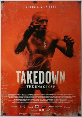 Takedown: The DNA of GSP - original movie poster - 27x40 2014 - MMA