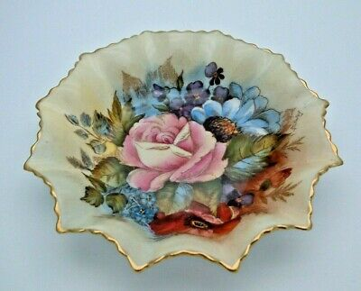 Superb Aynsley Cabbage Roses Signed J.a. Bailey Dish - Perfect