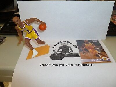 33ec12327e2 1995 Starting Lineup SLU Nick Van Exel Los Angeles Lakers Open Figure w   card