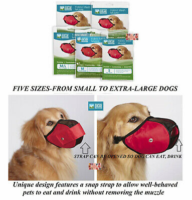 Guardian Gear NO BITE DOG MUZZLE COMFORT MESH Fabric EZ-Fit*GROOMING*TRAINING
