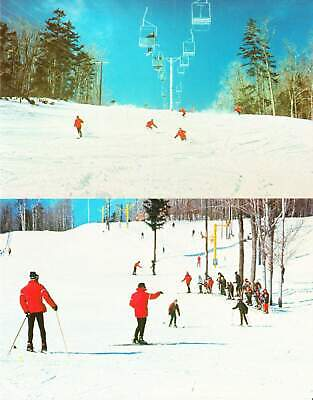 Okemo Mountain Ski Hill Ludlow VT 1970s Vintage Postcards