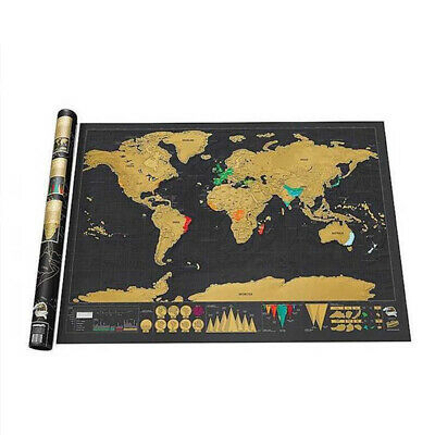 Premium Scratch Off Map of the World All Countries Laminated World Map Poster