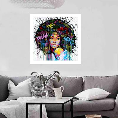 African Girl Oil Painting Canvas Home Wall Decor Art Modern Picture Unframed B