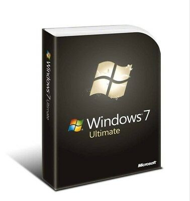 Microsoft Windows 7 Ultimate 32 & 64 bit with DVD FULL Version Sealed