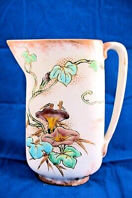Antique Early Haviland Limoges 1st Period Gilt Pitcher 1865-75 Morning Glories