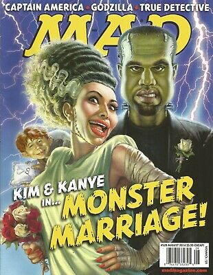 Mad Magazine #528 August 2014 Kim Kardashian & Kanye West  in Monster Marriage