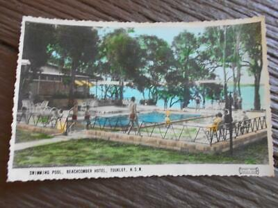 C 1950 s Swimming Pool Beachcomber Hotel Toukley New South Wales postcard