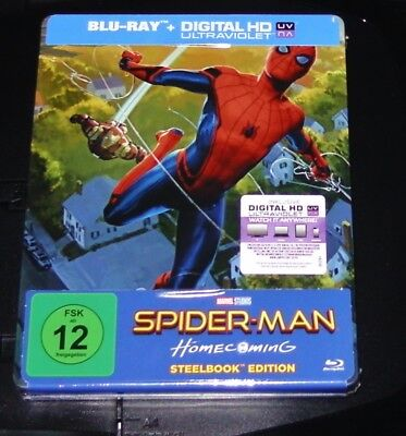 Spider Man Homecoming Limited Exclusive Pop Art Steelbook Blu Ray New and Sealed