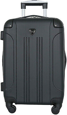 Travelers Club Luggage Chicago 20 Hardside Expandable Carry-on Spinner, Black