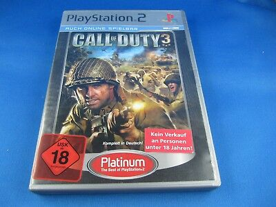 Spiel Playstation 2 PS2 Call of Duty 3
