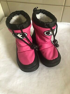 Xtm Girls Sz Us 6/6.5 Uk 5.5/6 Eu 21/22 Pink Snow/ski Thermoboots/shoes
