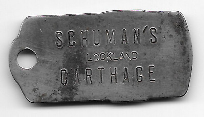 Carthage, OH?,  Schuman's, Lockland, Charge Coin, Owners No. Shirt Type