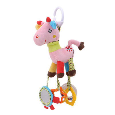 Infant Toys Animal Baby Plush Bed Wind Chimes Rattles Bell Toy Stroller B