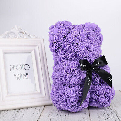 New Lovely Rose Flower Teddy Bear Toys for Girlfriend Birthday Mother's Day Gift