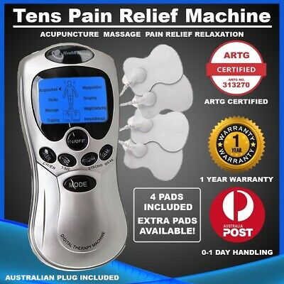 TENS Machine Digital Therapy Pain Relief Massager ACUPUNCTURE Physio + 4 PADS