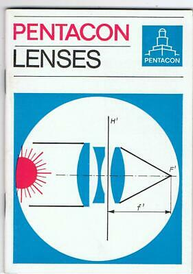 Guide Book For Pentacon Lenses