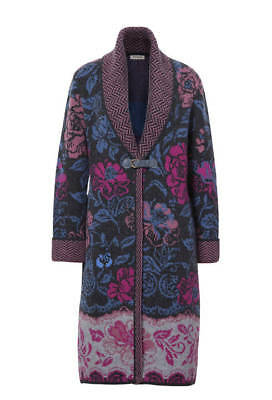 45c16333c0c IVKO KNITWEAR CARDIGAN wool red all seasons zip buttons floral 72609 ...
