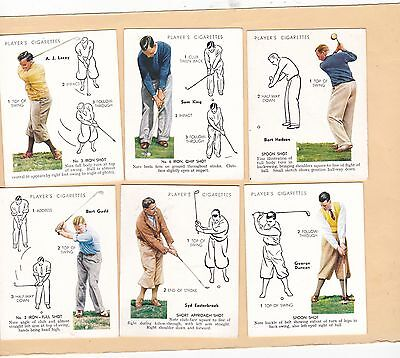 Player's Full Set L.25. Golf.1 Good, Rest Excellent.cat £190.00. Issued 1939.